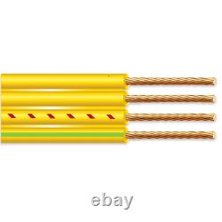 1000' 12/3 Flat Yellow Submersible Cable with Ground Well Pump Wire 600V