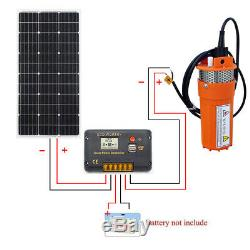 100W Solar Panel +12V Submersible Farm Water Pump Solar Powered Pump System Kit