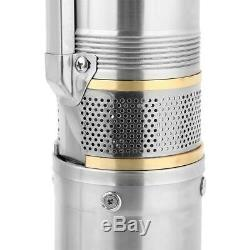 110V Stainless Steel Deep Well Water Pump Submersible Pump 370W 4000L/h US Plug