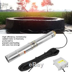 110V Stainless Steel Deep Well Water Pump Submersible Pump 4000L/h 370W US Plug