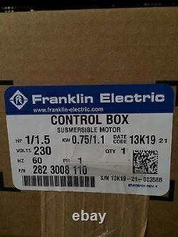 11/2 HP water well Franklin Electric control box, For submersible pumps