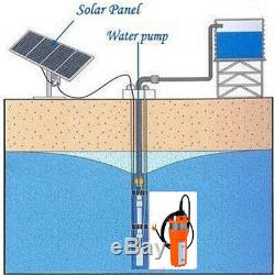 120W Solar Panel&12V Submersible Deep Water Well Pump Kits Farm/Home Irrigation