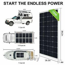 120W Solar Panel &12V Submersible Deep Water Well Pump Kits Farm/Home Irrigation
