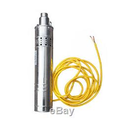 120m Solar Water Pump Submersible Bore Hole Deep Well 3m³/h 24V for Watering