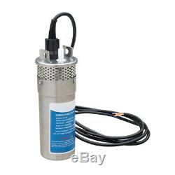 12V 4 Solar/Battery Deep Well Water Pump Submersible for Irrigation S/Steel 70M