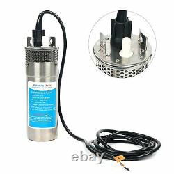 12V DC Stainless Shell Submersible Deep Well Water Pump Solar Battery 3.2GPM ESA