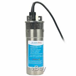 12V DC Stainless Solar Deep Well Water Pump Submersible Pump 100m Lift 3.2GPM