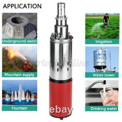 12V DC Submersible Deep Well Pump Solar Power Large Flow Stainless Steel Pump