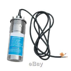 12V Solar Powered Deep Well Water Pump Submersible for Farm Irrigation S/Steel