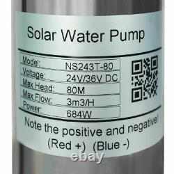 12V Solar Submersible Deep Well Bore Pump Water Pump for Farm Pool Irrigation