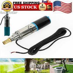 12V Submersible Pump Deep Well Water180W DC Pump 3000L/H Stainless Steel