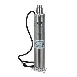 12/24V 3m3/H DC Brushless Solar Powered Water Pump Submersible Deep Well 20-80m