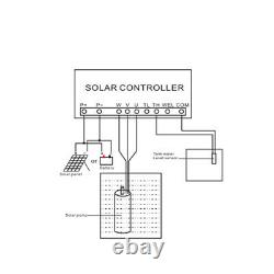 1500W 4 DC Deep Well Solar Water Pump 110V Submersible MPPT Controller Kit NEW