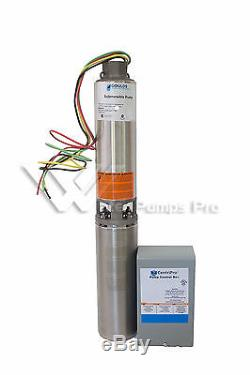 18GS10412C Goulds 18GPM 1 HP 4 Submersible Water Well Pump & Motor 230V 3Wire