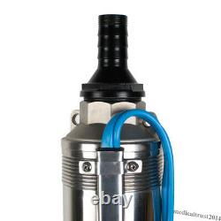 1HP 44GPM 110V Submersible Deep Well Pump Stainless Steel Water Pump Irrigation