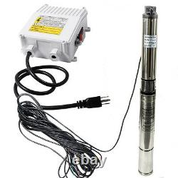 1HP 4''Deep Well Submersible Pump 200' 33GPM 110V Stainless Steel with Control Box