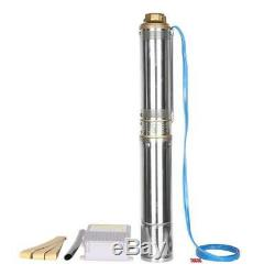 1HP Submersible Stainless Steel Body Deep Well Pump 33GPM + A Control Box 750W