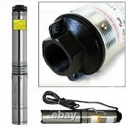 1/2 HP 4 Deep Well Water Pump Submersible Stainless Steel 150FT 25GPM 220V 60Hz