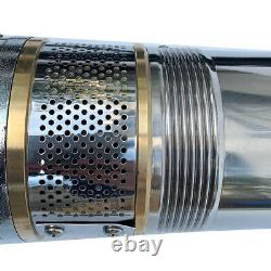 1.5HP 6m³/h Submersible Well Pump 110V 256FT Bore Hole Deep Well Stainless Steel