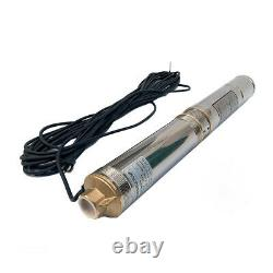 1.5HP Submersible Bore Water Pump Deep Well Pump with Cable Stainless Steel US