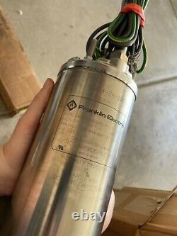 1.5 HP Franklin Electric 4 Submersible Motor 2443099004g 2-Wire Well Pump