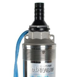1 HP 110V Deep Well Submersible Pump, 4 44GPM Stainless Steel Water Pump Head