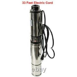 1 HP 220V Deep Well Submersible Pump, 4, 207 ft Max long life 33GPM 33ft Cord