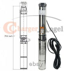 1 HP 4'' Deep Well Submersible Pump, 115V, 33 GPM, 207 ft, 60Hz, Stainless Steel