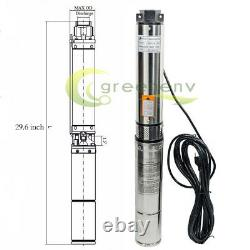1 HP Deep Well Submersible Pump, 4, 207 ft Max long life 220V 33GPM 33ft Cord
