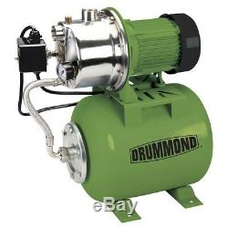 1 HP Stainless Steel Shallow Well Pump and Tank with Pressure Control Switch