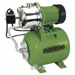 1 HP Stainless Steel Shallow Well Pump and Tank with Pressure Control Switch 9