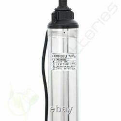 220V 2HP Submersible Deep Well Pump 440FT 42GPM Stainless Steel Water Pump