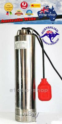 240V 1100W S. Steel Submersible Water Bore Well Pump 20M Cable