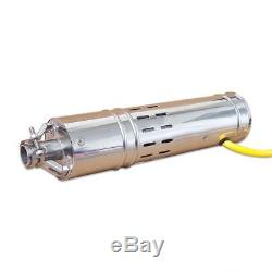 24VDC 2m3/H Solar Powered Submersible Bore Hole Deep Well Water Pump 20m Life