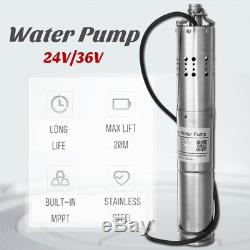 24V/36V 2m³/h Brushless Solar Powered Submersible Deep Water Well Pump MPPT Farm