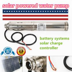 24V/36V 520W Solar Powered Water Pump Submersible Bore Hole Deep Well Pump USA