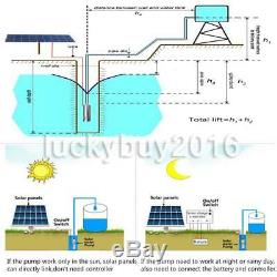 24V 864W 120M 3m³/h Steel Submersible Deep Well Solar Water Pump