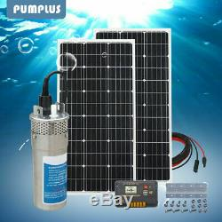 24V DC Deep Well Water Pump+2100W Solar Panel +20A PWM Solar Charger Controller