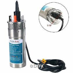 24V DC Stainless Shell Submersible 3.2 GPM 4 Deep Well Water Pump Solar Battery