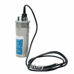 24V DC Stainless Steel Solar Submersible Well Water Pump for Farm Ranch 230'/70m