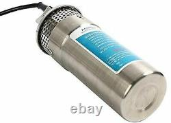 24V Stainless Shell Submersible 3.2GPM 4 Deep Well Water DC Pump Solar Battery