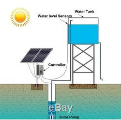 24V Submersible Deep DC Solar Battery Well Water Pump Alternative Energy Farm US