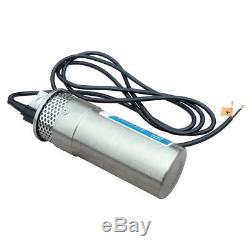 24V Submersible Deep DC Solar Well Stainless Steel Water Pump for Farm Ranch