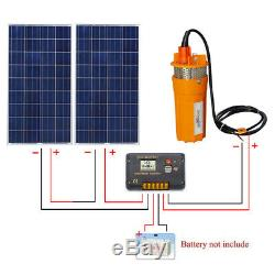 24V Submersible Deep Well Water Pump & 200W Solar Panel Control Kit for Watering
