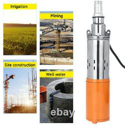 260W DC 24V 1.2M³/H 50M Max Lift Deep Well Pump Submersible Water Pump +