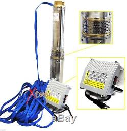 2HP 220V Deep Bore Stainless Submersible Well Water Pump 18GPM with Control Box