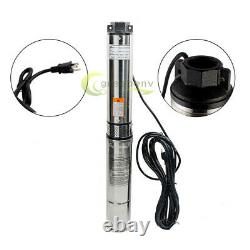 2HP Deep Well Submersible Pump, 4, 400' Max, 12 Stage, 220V, 35GPM 12 Stage 60Hz