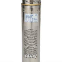 2HP Deep Well Submersible Pump, 4, 400 ft Max, 220V, 35GPM with 18 Impellers