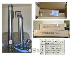 2-WIRE 13.39GPM@430 FT 4 SUBMERSIBLE SINGLE PHASE 240V 60Hz 3 HP DEEP WELL PUMP