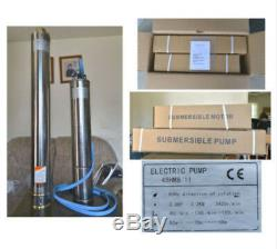 2-WIRE 32 GPM@250 FT 4 SUBMERSIBLE SINGLE PHASE 240V 60Hz 3 HP DEEP WELL PUMP